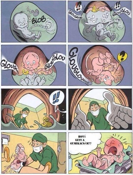 Ezért sírnak az újszülöttek