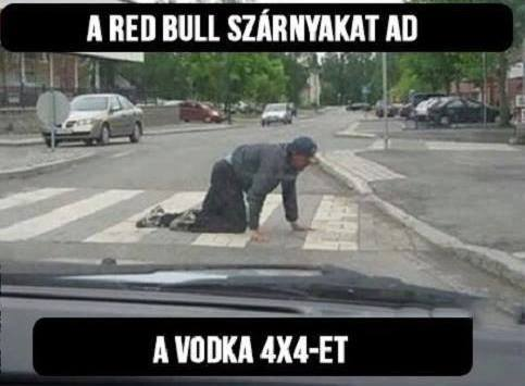 Red bull vagy vodka