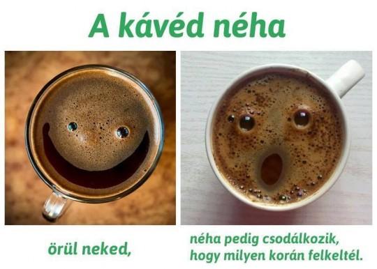 A kávéd ....