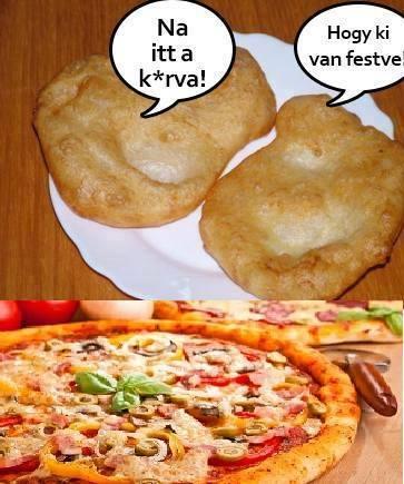 Lángos, vagy pizza?